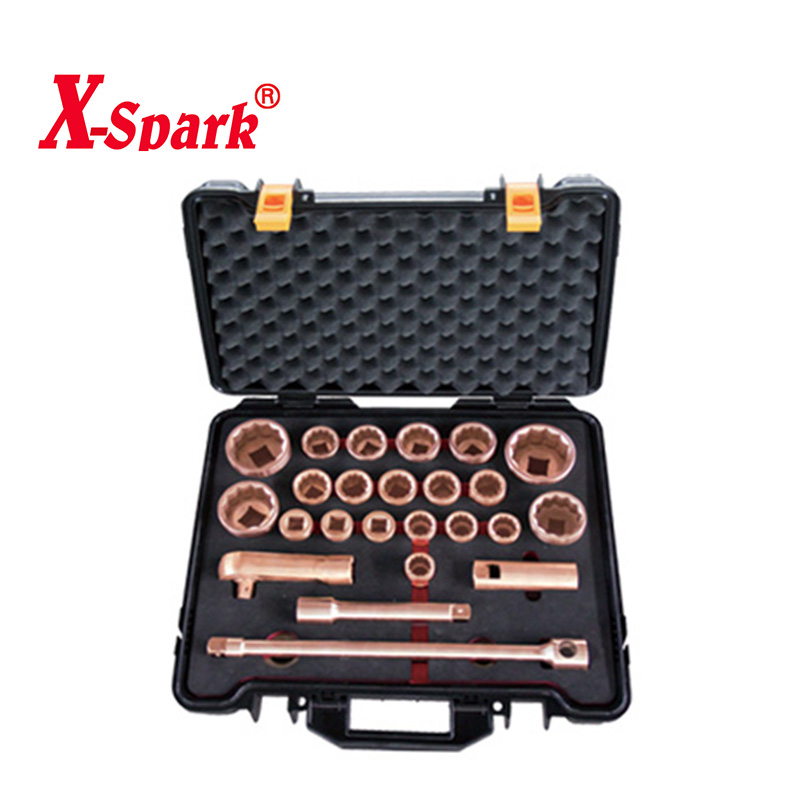 "Non Sparking Non Magnetic Box Spanner Set 3 / 4 "" * 1 "" Dr Socket Set - 26pcs"