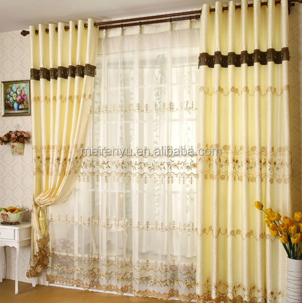 2015 hot selling bedroom curtain design curtain for Curtain designs for bedroom