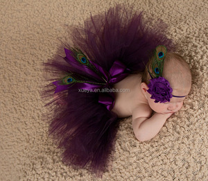 Wholesale boutique cheapest price peacock stylish fluffy baby tutus