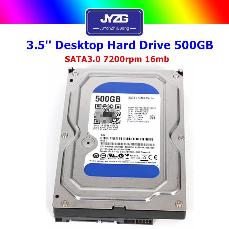 "Used Hdd 3.5"" SATA III 7200rpm 64mb 500gb Desktop hard disk drive"