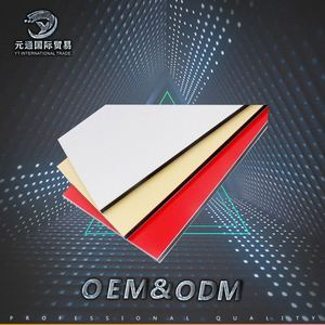Acm China Supplier 6mm 7mm Pe/Pvdf Black Glossy Colors Aluminum Composite Panel