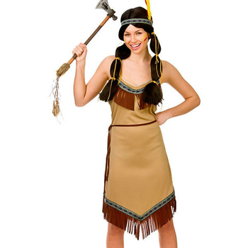 Ladies Native American Indian Wild West New Fancy Dress Party Costume BD1009