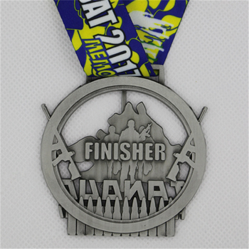 Custom event 2D hollowed out medal marathon running medals