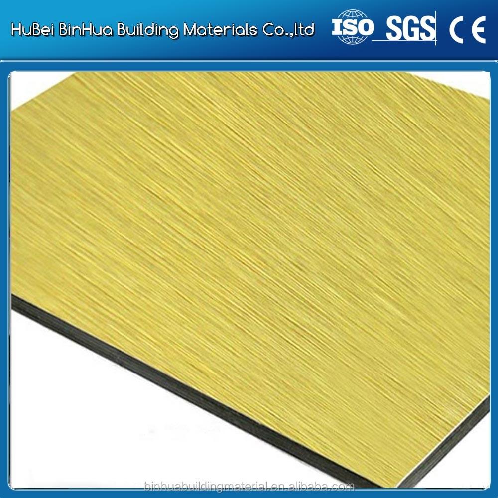 Spazzolato pannello in alluminio sistema di rivestimento della parete per parete interna for Rivestimento parete interna