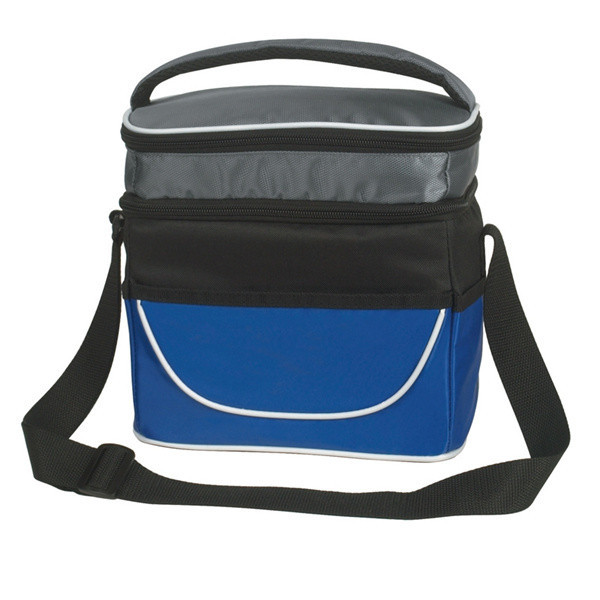 Two Compartment Lunch Bag Insulated 600D Lunch Cooler Bags for Men