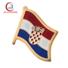 China factory direct sale custom enamel national metal country flags lapel pins