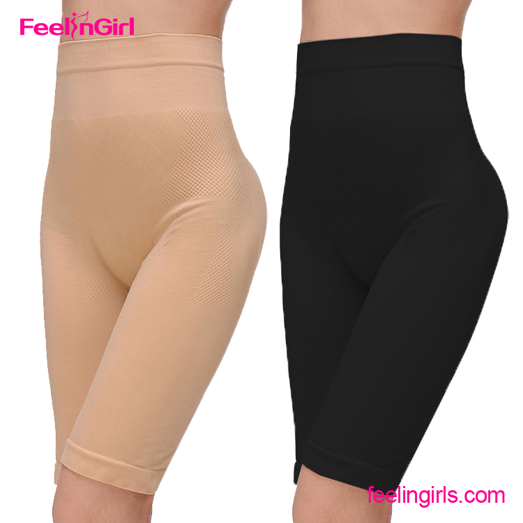 New Arrival Long High Waist Black Shapewear Open Butt Sex Girl Underwear Panty Girdle
