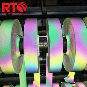 reflective heat transfer rainbow polyester fabric