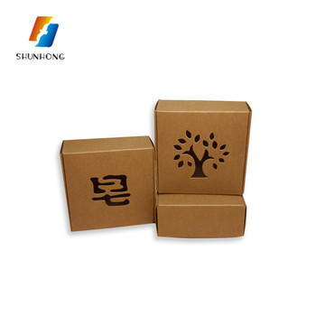 Made in China kraft paper sweet gift soap packaging box with cutting shape