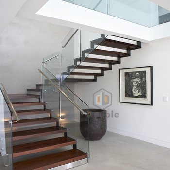 Modern Design Duplex House Stairs Hard Wood Staircase Buy