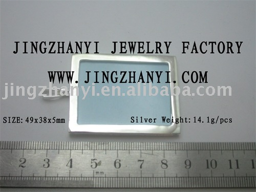 fashion jewelry,silver pendant,photo frame