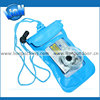 Easy carrying blue drawstring waterproof pvc bag for mobile phone
