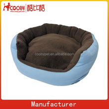 blue canvas pouf dog kennel