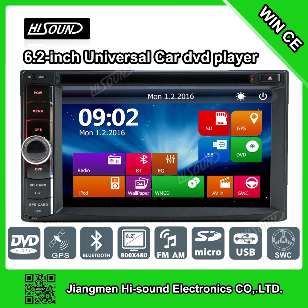 2DIN Newest 6.2'' touch screen gps car stereo dvd auto