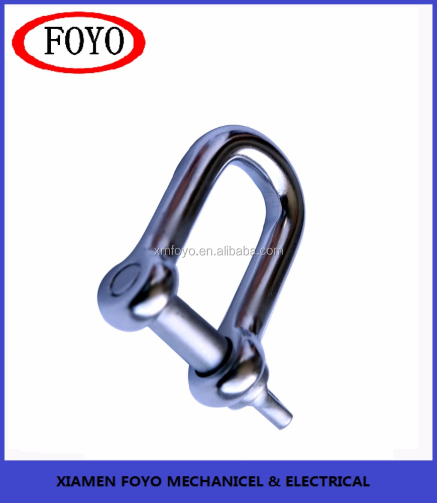 marine hardware Stainless Steel Straight D Shackle w/ Screw Pin