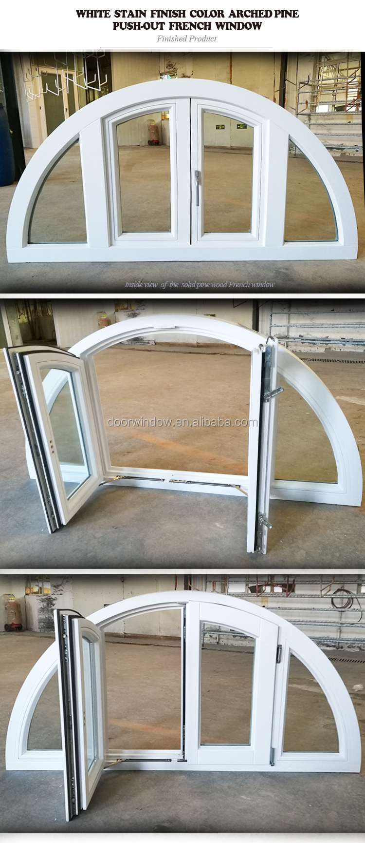 Arched wood window awning antique frame