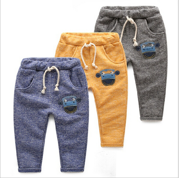 Retail 1PC New2015 Spring Autumn Fashion Grey,Blue,Yellow Children Trouser Brand Cotton Thin Baby Kids Boys Casual Pants CC2108W