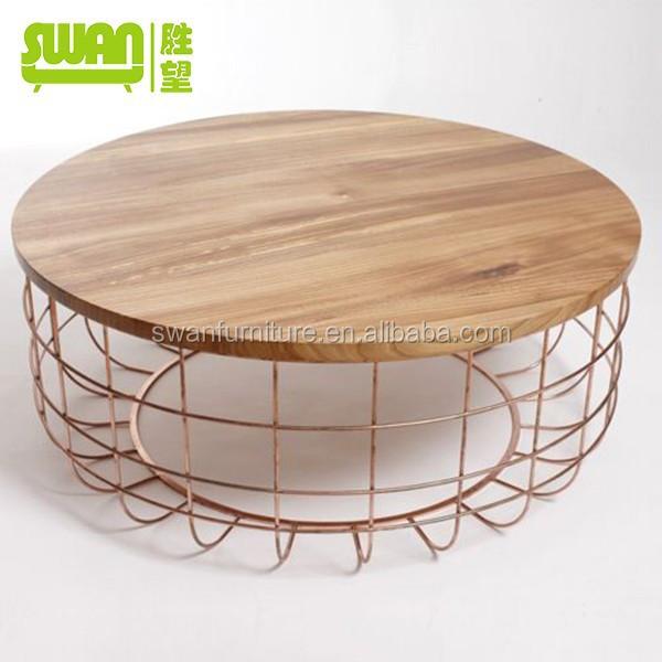 3007 Popular Design Rose Gold Coffee Table Eamecouple
