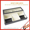 PU Leather Glass Top Jewellery Storage Case Box