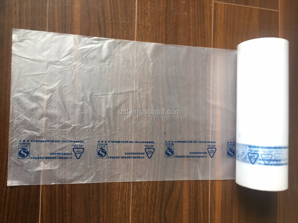 food packing plastic hdpe rolls tubing bag, certificate plastic bag