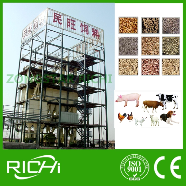 Animal Feed Pellet Machine for Poultry Broiler Chicken Premix Feed Pellet Production Line
