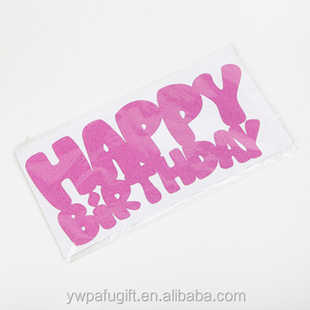 Letter Wall Decal Stickers For Hy Birthday