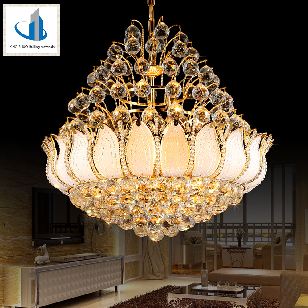 Gold Crystal Lighting Lamp Luxury Crystal Fixture Lights Lusters de cristal Middle East Chandelier