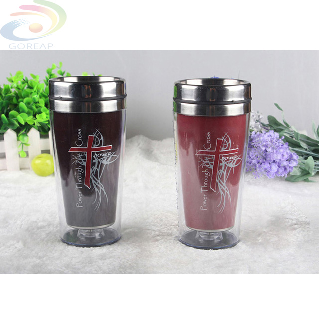 Color changing Double Wall Stainless Steel Coffee Cup Insulated BPA Free Mug, travel coffee mug