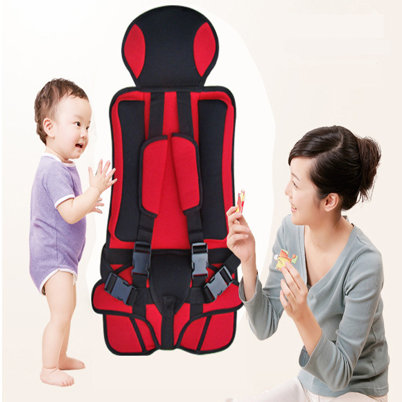 9 Month-4 Years Portable Baby Safety Car Seat Knitted Fabric+Polyester Seat Cover Car 9-18kg Seat For Children Adjustable Belt