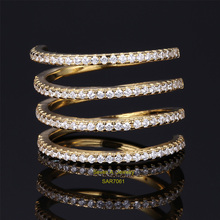 SAR7061 Fashion Jewelry Silver 925 Ring Micro Pave CZ Big Finger Rings