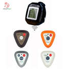 Restaurant wireless equipment with high-end material waiter call button and waterproof vibrating wrist watch buzzer