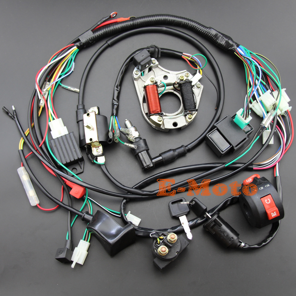 Gy6 Wiring Diagram Rectifier Great Installation Of Ignition Harness For Go Karts Kart 49cc Scooter 5 Wire