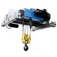 Light Duty Top Roof Traveling Motor Driven Electric Hoist 2.3 ton Single One Beam Girder Overhead Bridge Crane for sale