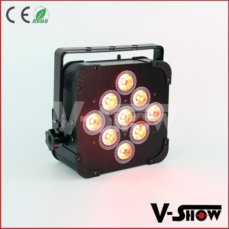 Professional led theater light wireless dmx dj remote light 9x18w rgbwa uv battery wifi rechargeable led light parcan