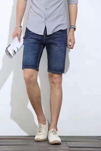 Stock Wholesale Blue Original USA Authentic Man Famous All Brand Logo Name Men Jeans Shorts