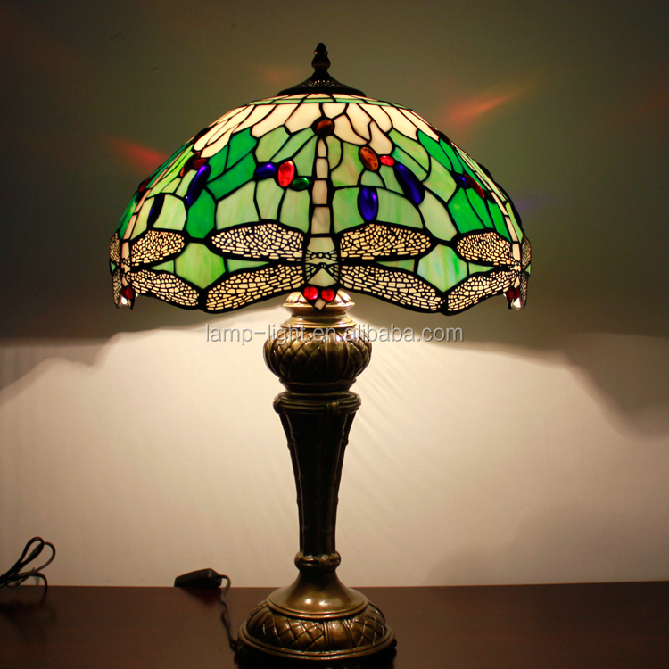 16 inch stained glass style table lamp S05216T13 imitation dragonfly tiffany table lamp for home from china tiffany lamp supplie