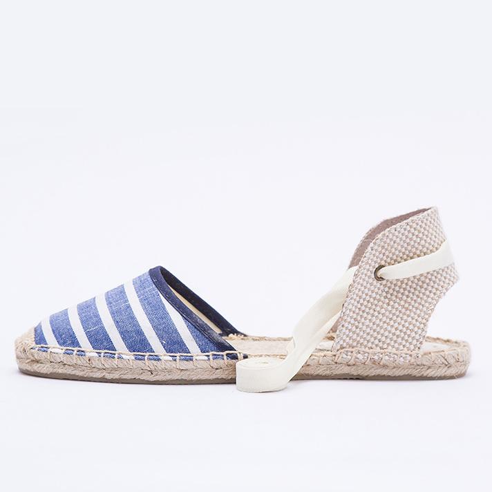 woven crossover sketchers shoes stripe pumps canvas strap woman Ladies q7wzZax5