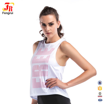 Custom Brand Gym Running Loose Tank Top Women Casual Fitness Clothing f43c7f4231