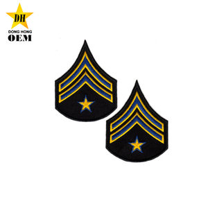 Custom Shoulder Insignia Embroidery Uniform Military Rank Chevrons