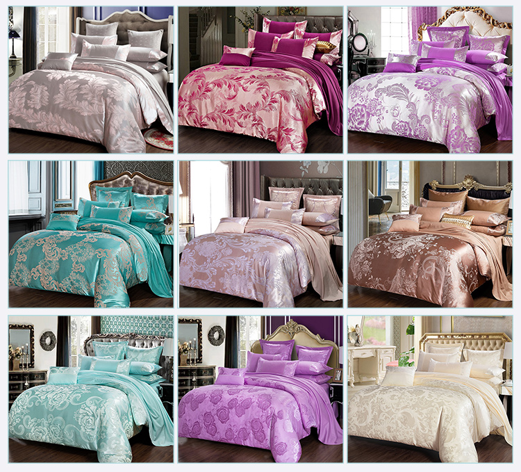 Custom Home Textile 9Pcs Bedding Polyester Bed Sheet Sets