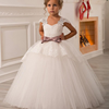 Girls Evening Party Dress Summer Kids Children Carnival Costume Lace Princess Dress Flower Girl Wedding Y11064