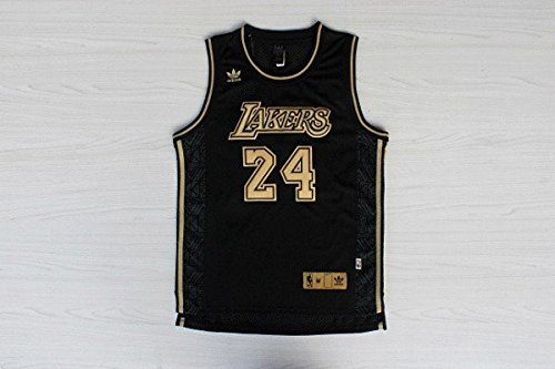3ceb38929df Get Quotations · Men s Los Angeles Lakers Kobe Bryant Black Gold Jersey