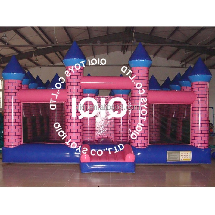 Pink inflatable maze bouncy castle f/funny maze for sales