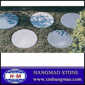 Outdoor grey round paving stone
