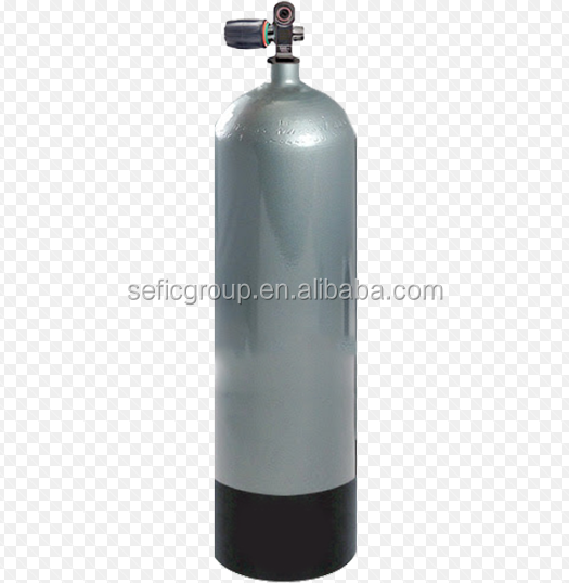 aluminum diving equipment breathing air tank with YOKE valve