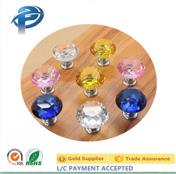 Modern Style Different Colors Crystal Knobs/rooster Cabinet Knobs Furniture  Funky Cabinet Knobs
