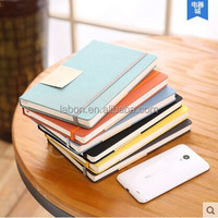 fabric cover wholesale paper notebooks with elastic strap and inner pocket