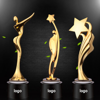 Wholesale gold dance and music star trophy design