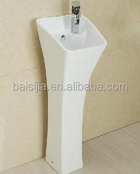 Small One Piece Free Standing Pedestal Basin Bathroom Bsj B120