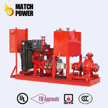 UL/FM Fire Pump set With centrifugal Diesel Engine End Suction Fire Pump Sets 500GPM @ 105psi